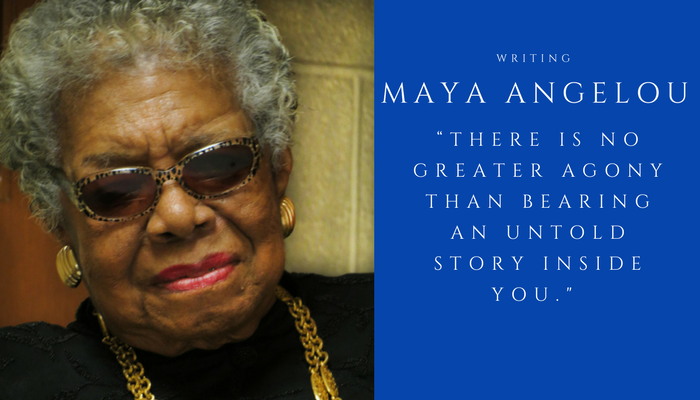 2018 MAYA ANGELOU - writing