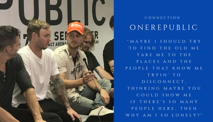 2018 ONEREPUBLIC - connection