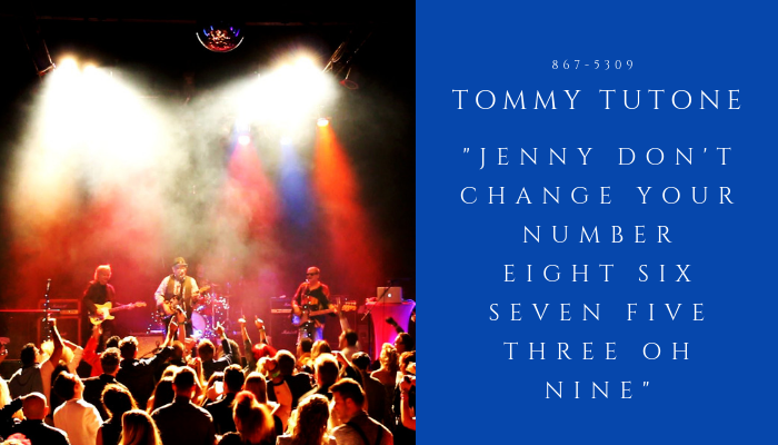 2019 TOMMY TUTONE - jennys number